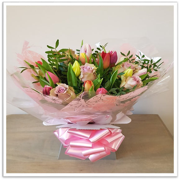 Tulip and Rose Selection Bouquet