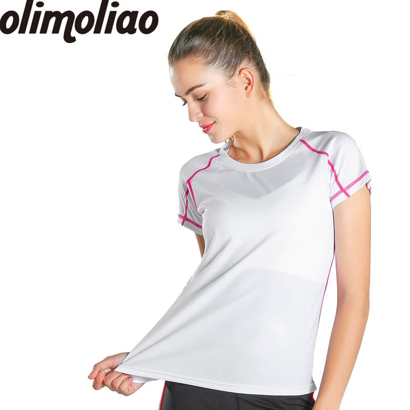 d93b992233591 Yoga shirts woman Gym Athletic Workout Running Clothes For Women Tops  Sports Apparel Fitness Tanks Sport ...