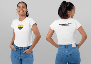 Women's T-Shirt - Together For Colombia Benefit - Hearts