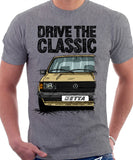Drive The Classic VW Jetta Mk1. T-shirt in Heather Grey Colour