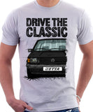 Drive The Classic VW Jetta Mk1. T-shirt in White Colour