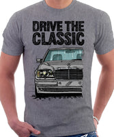 Drive The Classic Mercedes W124 500E. T-shirt in Heather Grey Colour