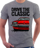 Drive The Classic Opel Manta B Early Model. T-shirt in Heather Grey Colour