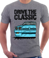 Drive The Classic Opel Manta B Round Lights. T-shirt in Heather Grey Colour