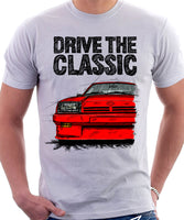 Drive The Classic Opel Manta B Square Lights. T-shirt in White Colour