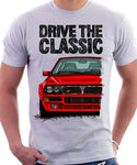 Drive The Classic Lancia Delta Integrale. T-shirt in White Colour