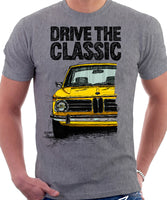 Drive The Classic BMW 2002. T-shirt in Heather Grey Colour