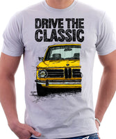 Drive The Classic BMW 2002. T-shirt in White Colour