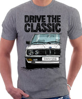 Drive The Classic BMW E28. T-shirt in Heather Grey Colour