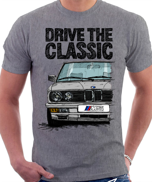 2019 Ausverkauf wie man serch konkurrenzfähiger Preis Drive The Classic BMW E28 M5 Early Model. T-shirt in Heather Grey Colour