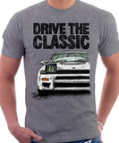 Drive The Classic Toyota Celica 5 Generation ST185 GT4 Carloz Sainz. T-shirt in Heather Grey Colour