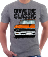 Drive The Classic Chevrolet Nova 1969. T-shirt in Heather Grey Colour