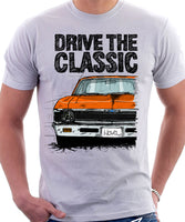 Drive The Classic Chevrolet Nova 1969. T-shirt in White Colour