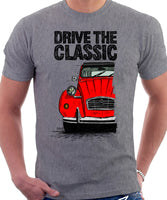 Drive The Classic Citroen 2CV. T-shirt in Heather Grey Colour