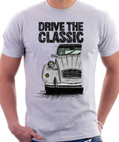 Drive The Classic Citroen 2CV. T-shirt in White Colour