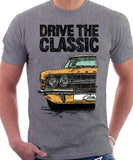 Drive The Classic Ford Cortina Mk3. T-shirt in Heather Grey Colour