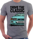 Drive The Classic Ford Sierra MK2 RS 4x4. T-shirt in Heather Grey Colour