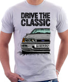 Drive The Classic Ford Sierra MK2 RS 4x4. T-shirt in White Colour