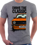 Drive The Classic Ford Escort MK2. T-shirt in Heather Grey Colour
