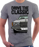 Drive The Classic Mercedes W123. T-shirt in Heather Grey Colour