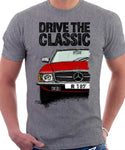 Drive The Classic Mercedes R107. T-shirt in Heather Grey Colour