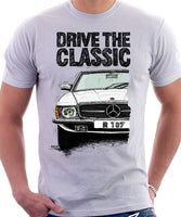 Drive The Classic Mercedes R107. T-shirt in White Colour