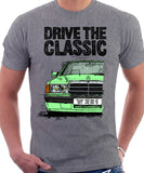 Drive The Classic Mercedes W201/190 16V. T-shirt in Heather Grey Colour