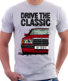 Drive The Classic Mercedes W201/190 16V. T-shirt in White Colour