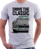 Drive The Classic MGB. T-shirt in White Colour