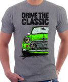Drive The Classic Mini Cooper. T-shirt in Heather Grey Colour