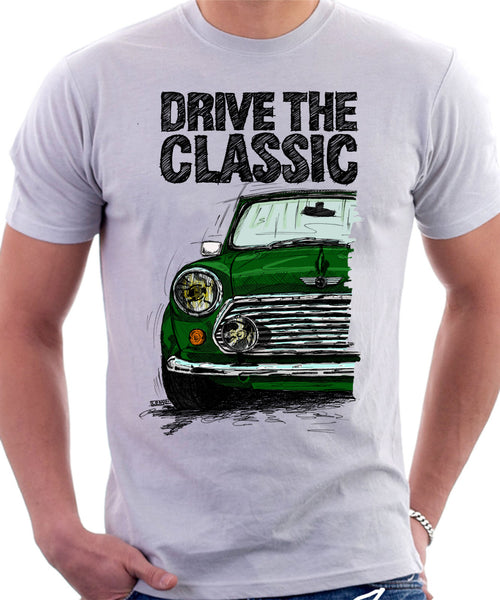Drive The Classic Mini Cooper. T-shirt in White Colour