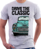 Drive The Classic Morris Minor. T-shirt in White Colour