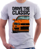 Drive The Classic Nissan Skyline R34. T-shirt in White Colour