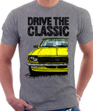 Drive The Classic Opel Kadett C Late Model. T-shirt in Heather Grey Colour