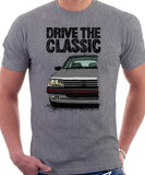Drive The Classic Peugeot 205 GTI. T-shirt in Heather Grey Colour