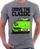Drive The Classic Porsche 928 Late Model. T-shirt in Heather Grey Colour
