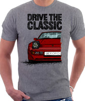 Drive The Classic Porsche 944 Early Model. T-shirt in Heather Grey Colour