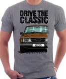 Drive The Classic Saab 900 Early Standard Model. T-shirt in Heather Grey Colour