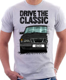 Drive The Classic Saab 900 Early Model. T-shirt in White Colour