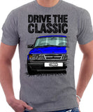 Drive The Classic Saab 900 Late Model. T-shirt in Heather Grey Colour
