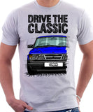 Drive The Classic Saab 900 Late Model. T-shirt in White Colour