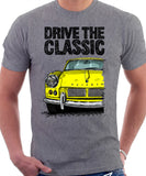Drive The Classic Triumph Spitfire Mk1 Hardtop. T-shirt in Heather Grey Colour