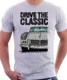 Drive The Classic Triumph Spitfire Mk2 Hardtop. T-shirt in White Colour