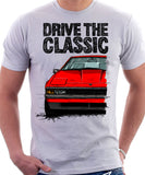 Drive The Classic Toyota Supra Mk2 Early Model. T-shirt in White Colour