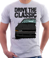 Drive The Classic Toyota Supra Mk2 Late Model. T-shirt in White Colour