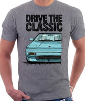 Drive The Classic Toyota MR2 Mk1. T-shirt in Heather Grey Colour