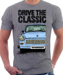 Drive The Classic Trabant. T-shirt in Heather Grey Colour