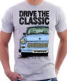 Drive The Classic Trabant. T-shirt in White Colour