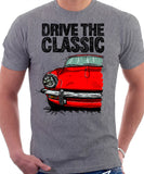 Drive The Classic Triumph Spitfire Mk3 Hardtop. T-shirt in Heather Grey Colour