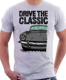 Drive The Classic Triumph Spitfire Mk3 Hardtop. T-shirt in White Colour